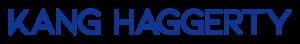 Kang Haggerty in bold, blue font